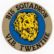RNLAF Sticker Patch Sqn Netherlands 315 Squadron Twenthe F16 Lg