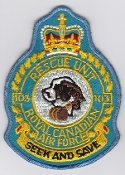 RCAF Patch Flt Royal Canadian Air Force Crest 103 Rescue Unit