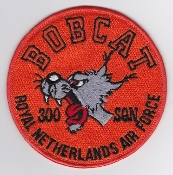RNLAF Patch Sqn Royal Netherlands Air Force 300 Squadron Bobcat