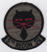 USAF Patch Recon PAC 5 RS Reconnaissance Squadron U 2 Black Cat