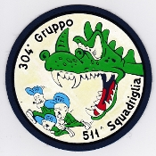 Italian Patch Air Force Aeronautica Militare AM Gruppo 304 511 S