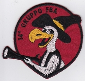 Italian Patch Air Force Aeronautica Militare AM Gruppo 14 FBA