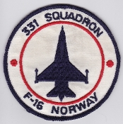 RNoAF Patch Royal Norwegian Air Force 331 Skv Squadron F 16 1982