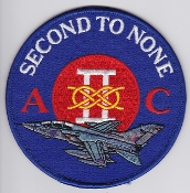 RAF Patch 2 Squadron II Royal Air Force Tornado Second To None
