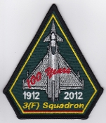 RAF Patch 3 Fighter Squadron Royal Air Force 100 Years 2012 a