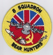 RAF Patch 8 Squadron Royal Air Force AEW Shackleton Bear Hunters