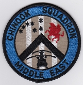 RAF Patch 7 Squadron Royal Air Force Chinook Sqn ME SF Flt 1991
