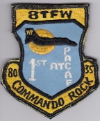 USAF Patch Fighter PAC 8 TFW Tactical Ftr Wing Commando Rock 78