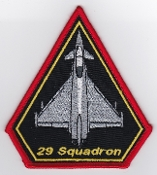 RAF Patch 29 Squadron Royal Air Force Typhoon Coningsby 2007