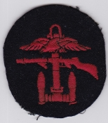 British Commando WWII Patch Combined Operations Red Black Disc a