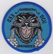RAF Patch 233 OCU Operational Conversion Unit Groundcrew Harrier