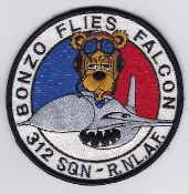 RNLAF Patch Sqn Royal Netherlands Air Force 312 Squadron F 16 Bz