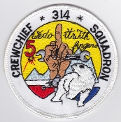 RNLAF Patch Sqn Royal Netherlands Air Force 314 Squadron Crew Ch