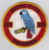 RNLAF Patch Sqn Royal Netherlands Air Force 322 Squadron F 16