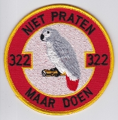 RNLAF Patch Sqn Royal Netherlands Air Force 322 Squadron Motto
