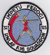 RNLAF Patch Sqn Royal Netherlands Air Force 323 Squadron F 16