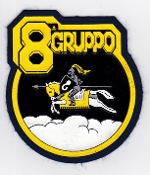 Italian Patch Air Force Aeronautica Militare AM Gruppo 8 EW EC