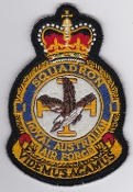 RAAF Patch Sqn Royal Australian Air Force 1 Squadron Crest 1980s