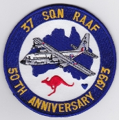 RAAF Patch Sqn Royal Australian Air Force 37 Squadron C 130 50th