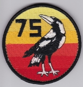 RAAF Patch Sqn Royal Australian Air Force 75 Squadron Ops Velcro