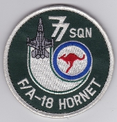 RAAF Patch Sqn Royal Australian Air Force 77 Squadron Hornet
