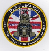 RAF Patch 33 Squadron Royal Air Force 40 Years Puma Helicopter