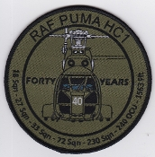 RAF Patch 33 Squadron Royal Air Force 40 Years Puma Helicopter S