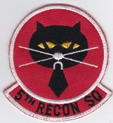 USAF Patch Recon PAC 5 RS Reconnaissance Squadron U2 Black Cat