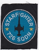 RDAF Patch Royal Danish Air Force 726 Esk Squadron F 104 Woven