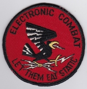 USAF Patch Intel Electronic Combat Operator Let Them Eat Static