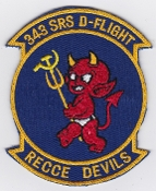 USAF Patch Recon S 343 SRS Strategic Reconnaissance Sqn D Flight