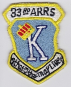 USAF Patch Rescue 33 ARRS Aerospace Recovery Sqn Combat King