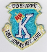 USAF Patch Rescue 33 ARRS Aerospace Recovery Sqn Combat King b