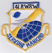 USAF Patch Rescue 41 RWRW Weather Reconnaissance Wing CSAR