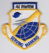 USAF Patch Rescue 41 RWRW Weather Reconnaissance Wing CSAR b