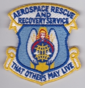 USAF Patch Rescue ARRS Aerospace Recovery Service Jolly UH 1 K
