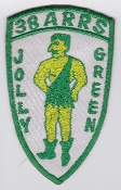 USAF Patch Rescue Vietnam 38 ARRS Aerospace Recovery Jolly Green