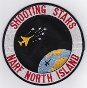 US Navy Aviation Patch Spt Eng NARF North Island Shooting Stars