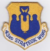USAF Patch Bomb USAF 43 Strategic Wing SW Guam B 52 Arc Light