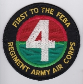 Army Air Corps AAC Rgt Patch 4 Regiment AAC FEBA W Germany 1980s