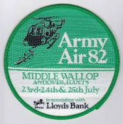 Army Air Corps AAC T Patch 1982 Army Air Show Middle Wallop L