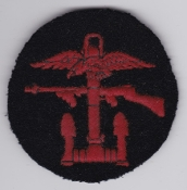 British Commando WWII Patch Combined Operations Red Black Disc b