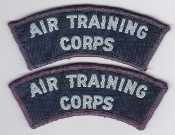 RAAF Patch Y Air Training Corps Cadets AIRTC Title c Pair