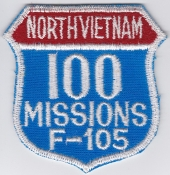 USAF Patch Fighter 561 TFS Tactical Ftr Sqn F 105 u 100 Missions