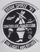 USAF Patch Rescue 33 ARRS Aerospace Recovery Sqn Team Spirit 81
