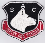 USAF Patch Bomb SAC Strategic Air Command v Sentry Dog Handler
