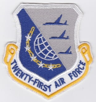 USAF Patch Airlift 21 AF Twenty One Air Force AMC Mobility