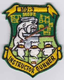 USAF Patch Bomb 93 BW Wing B 52 Tail Gunner Instructor MD 9