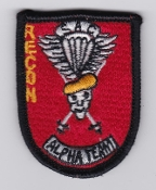 USAF Patch Bomb SAC Strategic Air Command v Recon Alpha Team
