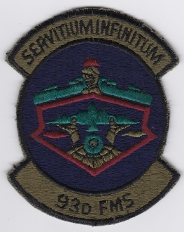 USAF Patch Bomb 93 Bombardment Wing b Heavy FMS Squadron B 52